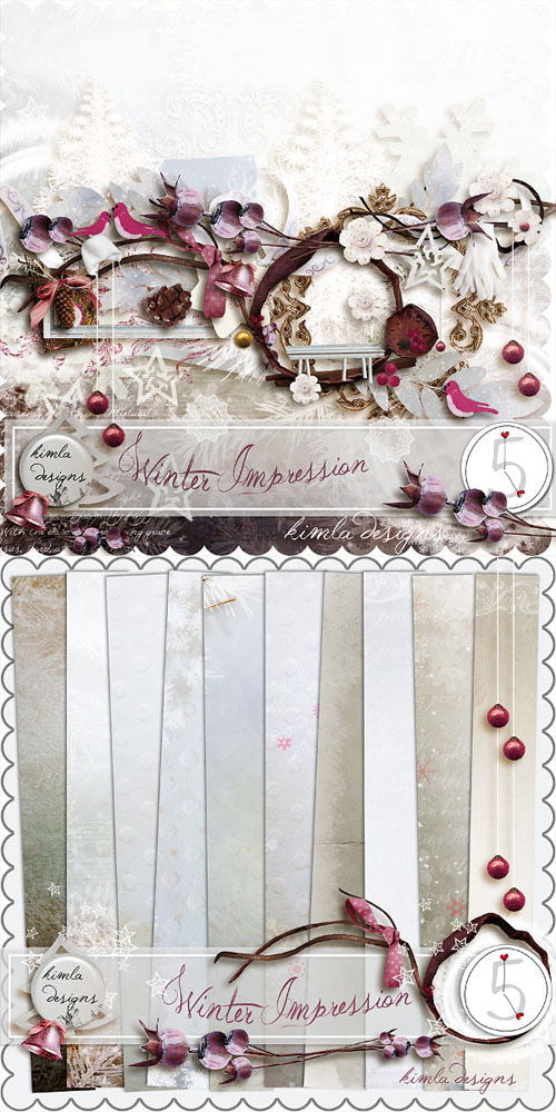 Scrap Set - Winter Impression PNG and JPG Files