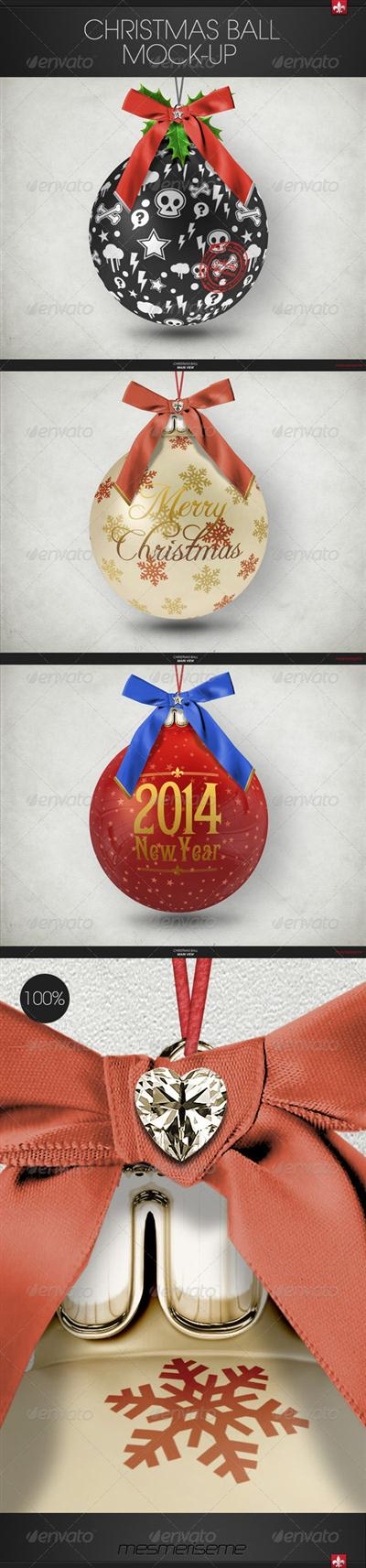 Christmas Ball Mock-up - GraphicRiver