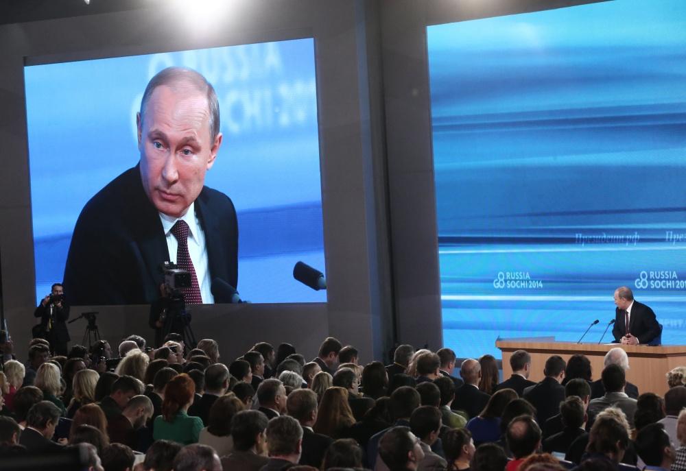 Пресс-конференция Владимира Путина в фотографиях