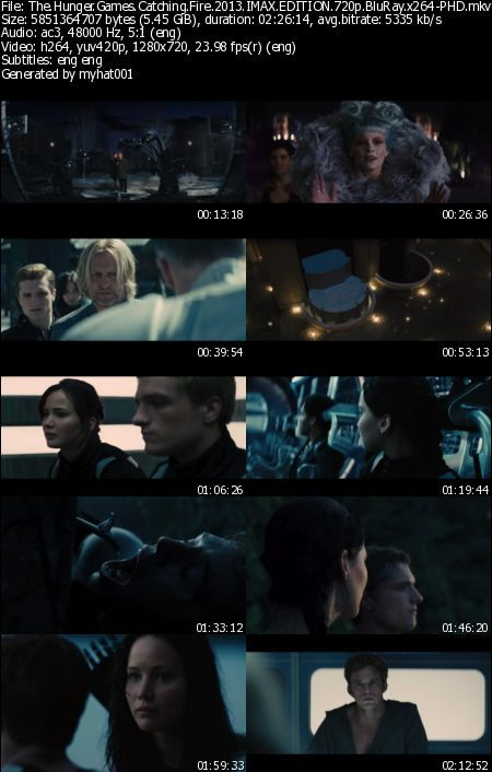 The Hunger Games Catching Fire (2013) IMAX EDITION 720p BluRay x264-PHD