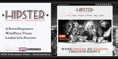 Hipster v.2.9.1 - Themeforest Retro Responsive WordPress Theme