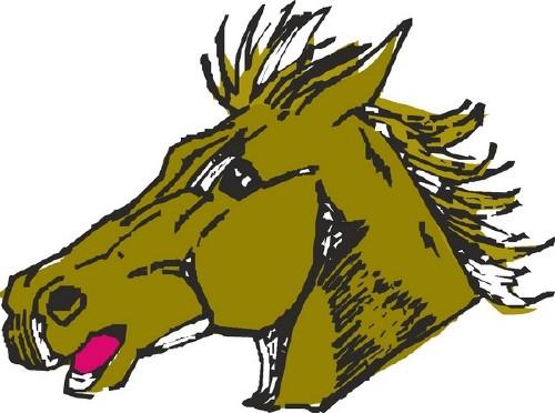 Лошадь (подборка векторных отрисовок)