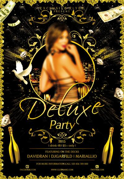 Flyer Template - Deluxe Party Facebook Cover
