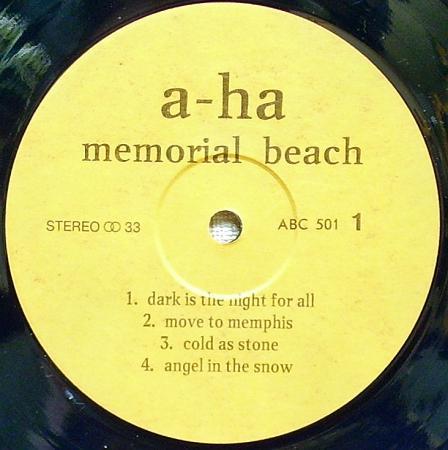 A-ha - Memorial Beach (1993), vinyl-rip
